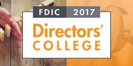 FDIC: 2017 Directors' College