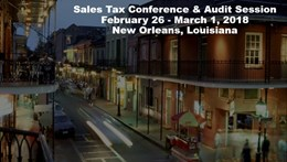 2018 Sales Tax Conference
