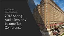 2018 Spring Audit Session/Income Tax Conference