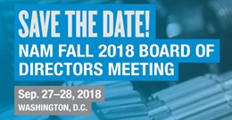 NAM Fall 2018 Board of Directors Meeting