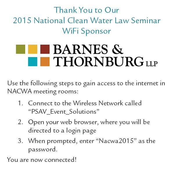 2015 National Clean Water Law Seminar